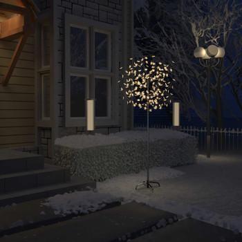 vidaXL Božićno drvce s 200 LED žarulja toplo bijelo svjetlo 180 cm