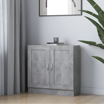vidaXL Ormarić za knjige siva boja betona 82,5 x 30,5 x 80 cm iverica