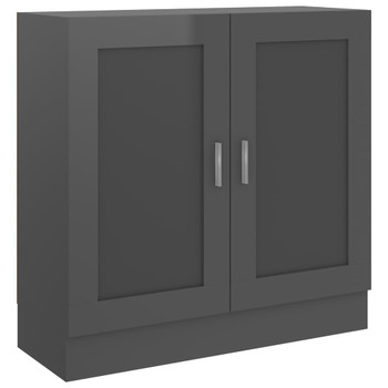 vidaXL Ormarić za knjige visoki sjaj sivi 82,5x30,5x80 cm od iverice