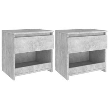vidaXL Noćni ormarići 2 kom siva boja betona 40x30x39 cm od iverice