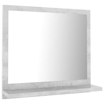 vidaXL Kupaonsko ogledalo siva boja betona 40 x 10,5 x 37 cm iverica