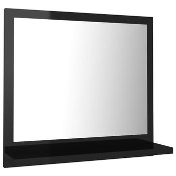 vidaXL Kupaonsko ogledalo visoki sjaj crno 40x10,5x37 cm od iverice