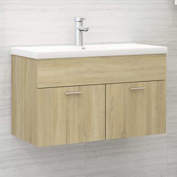 vidaXL Ormarić za umivaonik boja hrasta sonome 80x38,5x46 cm iverica
