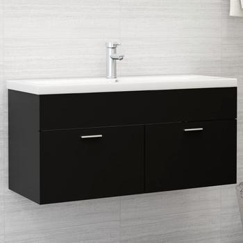 vidaXL Ormarić za umivaonik crni 100 x 38,5 x 46 cm od iverice