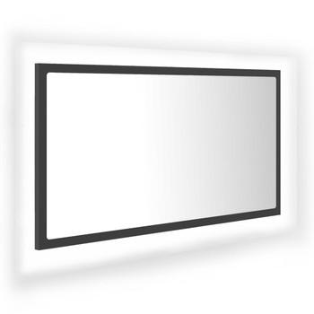 vidaXL LED kupaonsko ogledalo sivo 80 x 8,5 x 37 cm od iverice