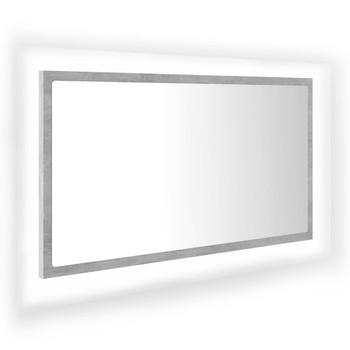 vidaXL LED kupaonsko ogledalo siva boja betona 80x8,5x37 cm od iverice
