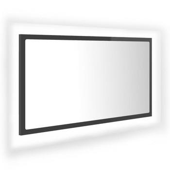 vidaXL LED kupaonsko ogledalo visoki sjaj sivo 80x8,5x37 cm od iverice