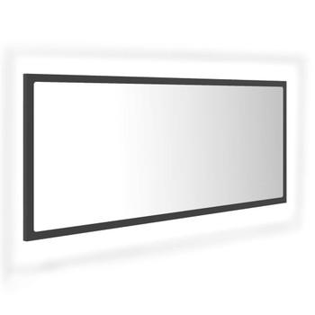 vidaXL LED kupaonsko ogledalo sivo 100 x 8,5 x 37 cm od iverice