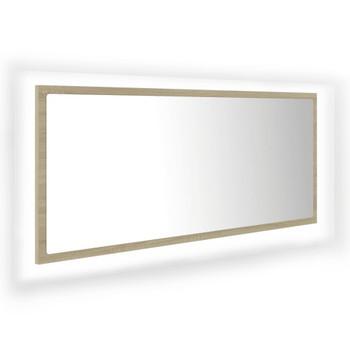 vidaXL LED kupaonsko ogledalo boja hrasta sonome 100x8,5x37 cm iverica