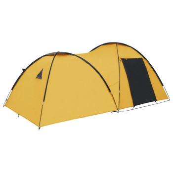 vidaXL Šator za kampiranje 450 x 240 x 190 cm za 4 osobe žuti