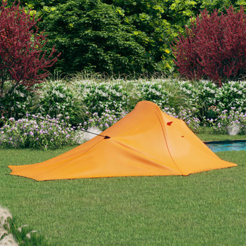 vidaXL Šator za kampiranje 317 x 240 x 100 cm narančasto-sivi