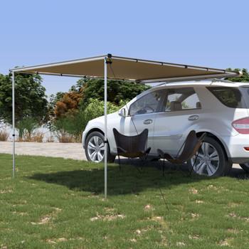 vidaXL Tenda za kamp-prikolicu i karavan 2,4 x 3 x 2,15 m bež