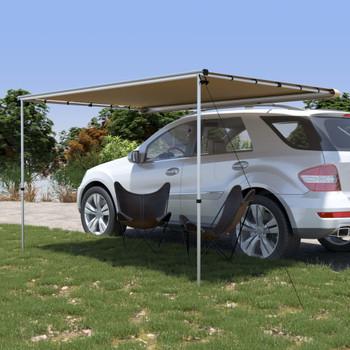 vidaXL Tenda za kamp-prikolicu i karavan 3 x 2 x 2,15 m bež