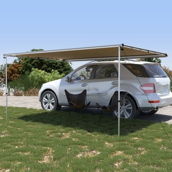 vidaXL Tenda za kamp-prikolicu i karavan 3,6 x 2,5 x 2,15 m bež