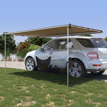 vidaXL Tenda za kamp-prikolicu i karavan 4 x 2 x 2,15 m bež