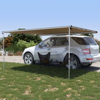 vidaXL Tenda za kamp-prikolicu i karavan 4 x 2,5 x 2,15 m bež