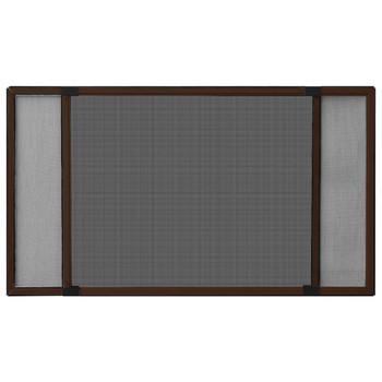 vidaXL Proširivi zaslon protiv insekata smeđi (100 - 193) x 75 cm