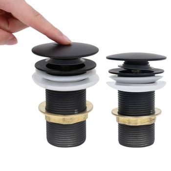 vidaXL Potisni odvod bez zaštite od prelijevanja crni 6,4x6,4x9,1 cm