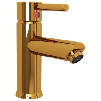 vidaXL Kupaonska slavina za umivaonik zlatna 130 x 176 mm