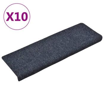 vidaXL Otirači za stepenice 10 kom antracit 65 x 25 cm prošiveni