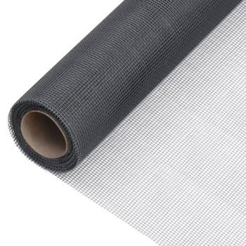 vidaXL Mrežasti zaslon od stakloplastike 80 x 1000 cm sivi