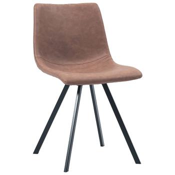 vidaXL Blagovaonske stolice od umjetne kože 6 kom srednje smeđe