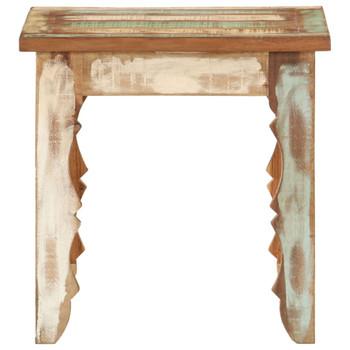 vidaXL Stolić za kavu 40 x 40 x 40 cm od masivnog obnovljenog drva