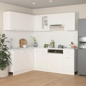 vidaXL 11-dijelni set kuhinjskih ormarića bijeli od iverice