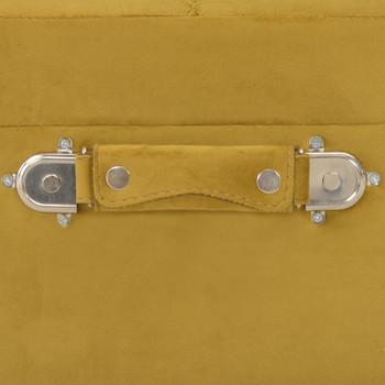 vidaXL Taburei za pohranu 3 kom žuta boja senfa baršunasti