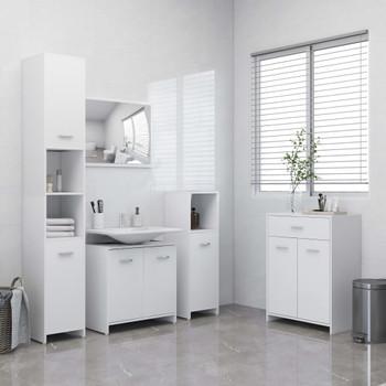 vidaXL 4-dijelni set kupaonskog namještaja bijeli