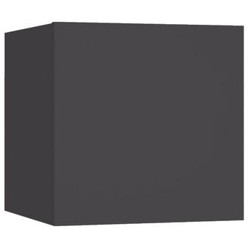 vidaXL Noćni ormarić sivi 30,5 x 30 x 30 cm od iverice