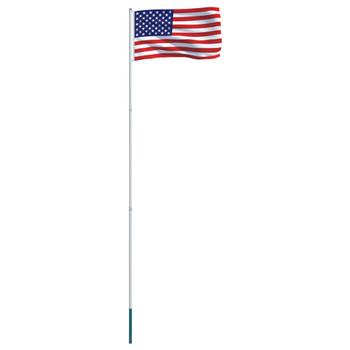vidaXL Zastava SAD-a s aluminijskim stupom 4 m