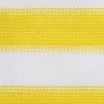 vidaXL Balkonski zastor žuto-bijeli 75 x 300 cm HDPE