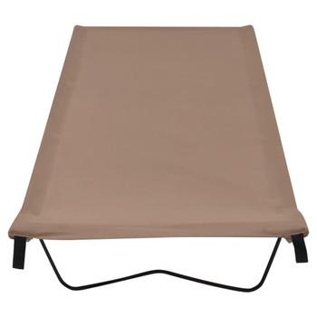 vidaXL Krevet za kampiranje 180x60x19 cm tkanina i čelik smeđe-sivi