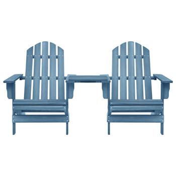 vidaXL Vrtna stolica Adirondack od masivne jelovine plava