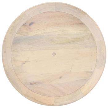 vidaXL Bočni stolić Ø 50 x 55 cm od masivnog drva manga