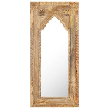vidaXL Ogledalo od masivnog drva manga 50 x 3 x 110 cm