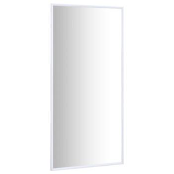 vidaXL Ogledalo bijelo 120 x 60 cm