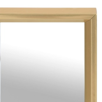 vidaXL Ogledalo zlatno 50 x 50 cm
