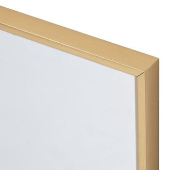 vidaXL Ogledalo zlatno 100 x 60 cm