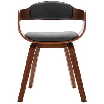 vidaXL Blagovaonska stolica tamnosiva savijeno drvo i umjetna koža