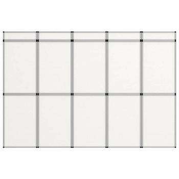 vidaXL Sklopivi izložbeni zid s 15 ploča 302 x 200 cm bijeli