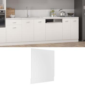 vidaXL Ploča za perilicu posuđa bijela 59,5 x 3 x 67 cm od iverice