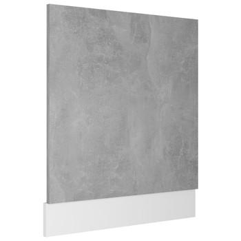 vidaXL Ploča za perilicu posuđa siva boja betona 59,5x3x67 cm iverica