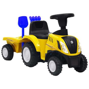 vidaXL Dječji traktor New Holland žuti
