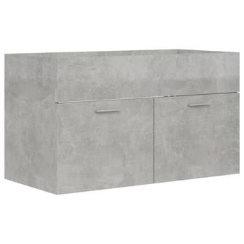 vidaXL Ormarić za umivaonik siva boja betona 80 x 38,5 x 46 cm iverica