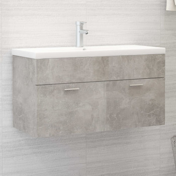 vidaXL Ormarić za umivaonik siva boja betona 90x38,5x46 cm od iverice