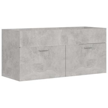 vidaXL Ormarić za umivaonik siva boja betona 100x38,5x46 cm od iverice