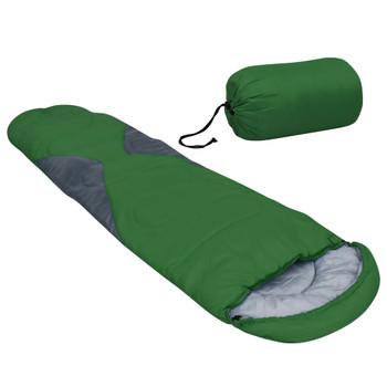 vidaXL Vreća za spavanje zelena 5 ℃ 1400 g