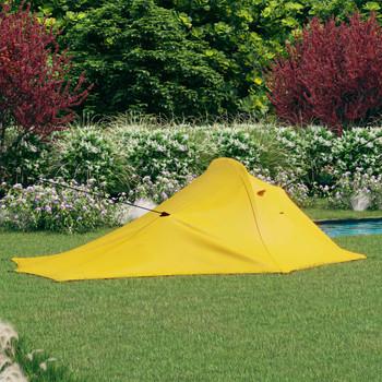 vidaXL Šator za kampiranje 317 x 240 x 100 cm žuti